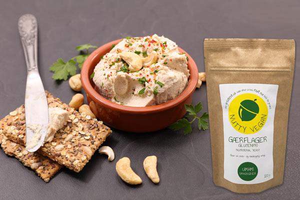 gærflager nutritional yeast til vegansk ost med agar agar Nutty Vegan
