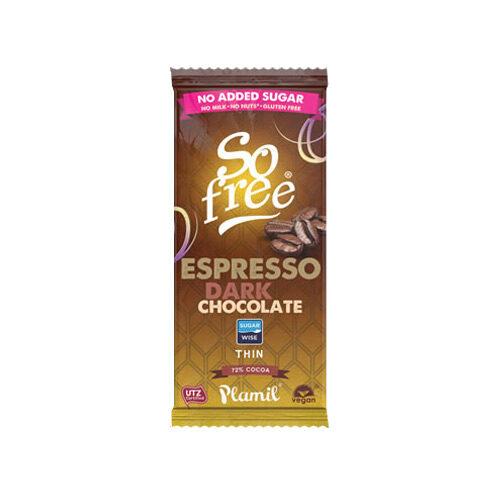 vegansk kaffechokolade - køb espressochokolade So Free Plamil