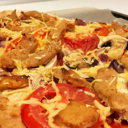 vegansk kylling - vegansk pizzatopping opskrifter