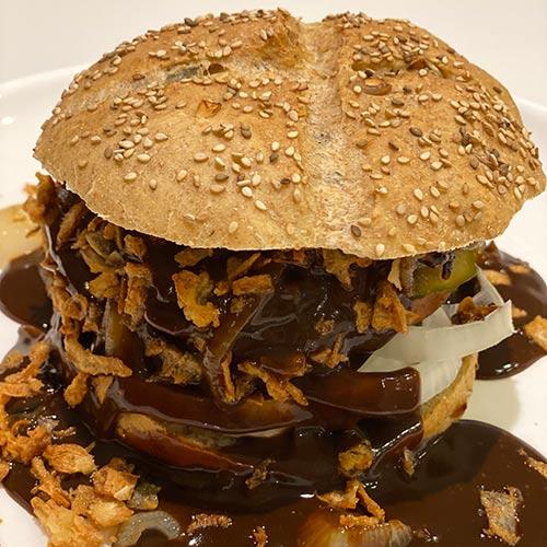 vegansk bøfsandwich opskrift