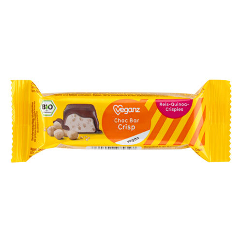 vegansk chokoladebar med crisp og quinoa - veganz chokolade køb online