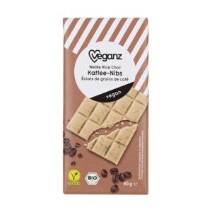 hvid vegansk chokolade med kaffesmag Veganz