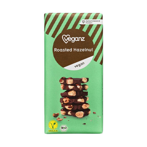 vegansk chokolade med nødder køb veganz roasted hazelnut