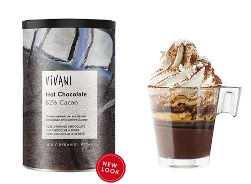 vegansk kakao pulver - vivani hot chocolate køb