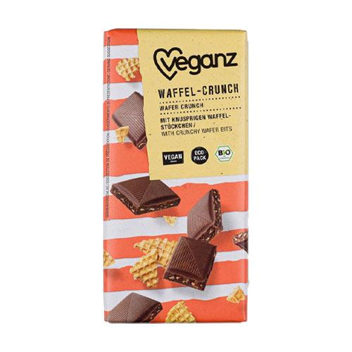 vegansk mælkechokolade køb - veganz med vaffelcrunch