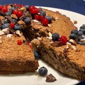 vegansk nøddekage opskrift med erythritol - sågger - sukrin alternativ