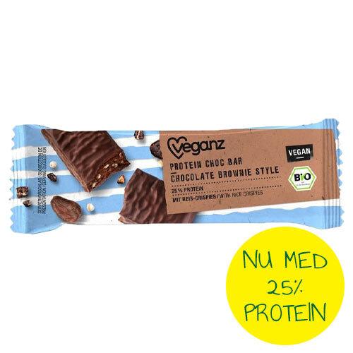 vegansk proteinbar - køb - veganz proteinbar brownie style