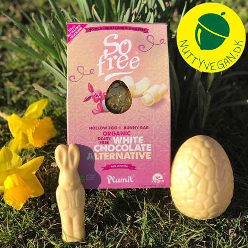 vegansk påskeæg hvid chokolade - so free påskeæg køb