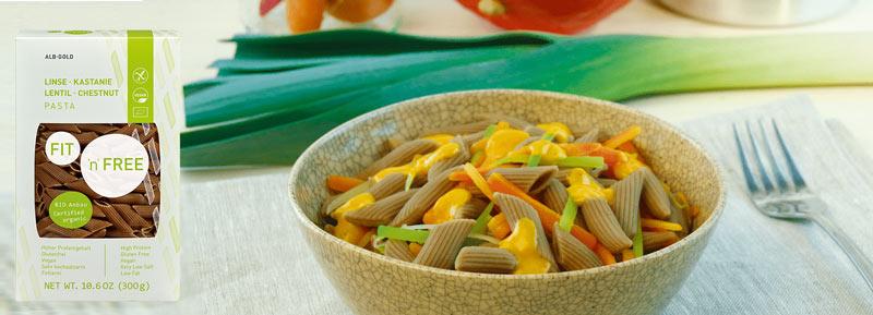 vegansk pasta køb - linsepasta