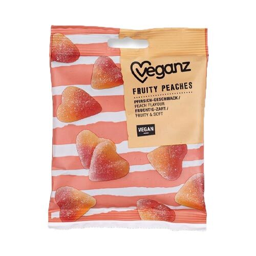 vegansk vingummi med ferskensmag Veganz