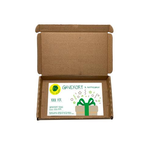 gave til veganer - gavekort til veganske produkter nutty vegan