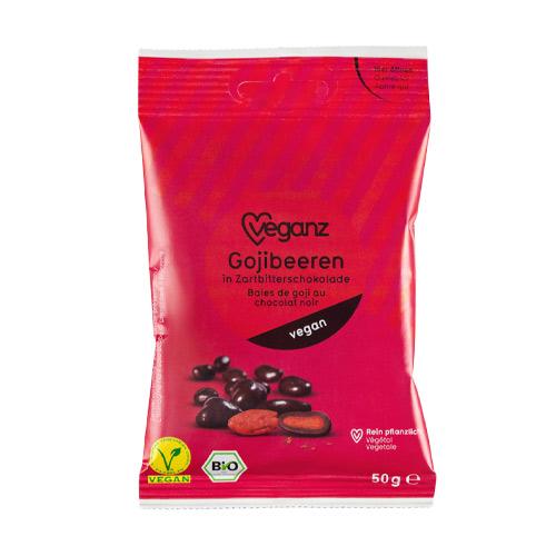 gojibær med chokoladeovertrøk - veganske snacks køb