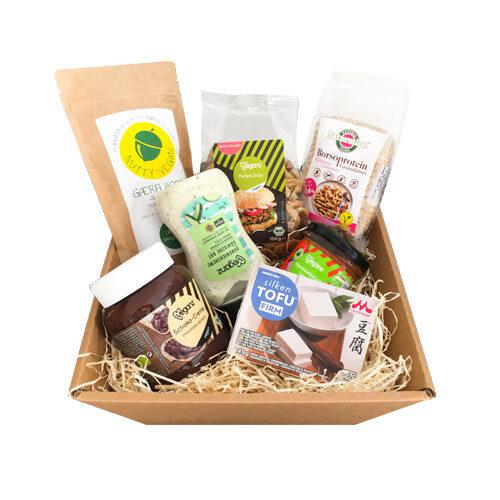 vegansk værtindegave - vegansk gavekurv med mad