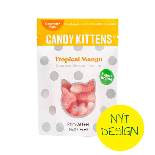 candy kittesn tropical mango - vegansk slik - vegansk vingummi
