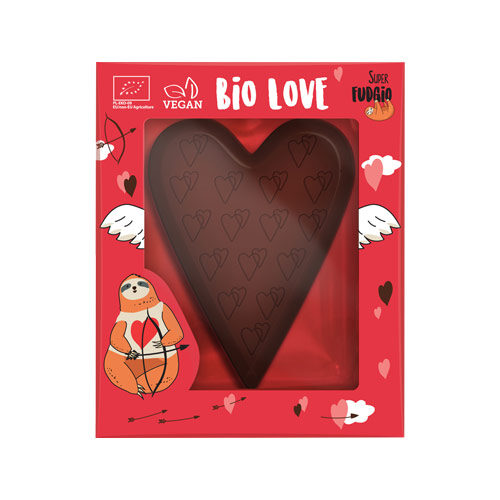 vegansk chokoladehjerte - vegansk valentinsgave super fudgio