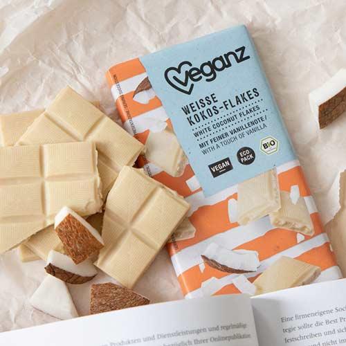vegansk hvid chokolade med kokos veganz