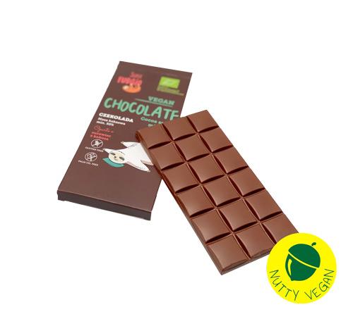 vegansk mælkechokolade køb online - nutty vegan
