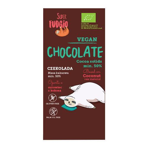 vegansk mælkechokolade med kokos super fudgio