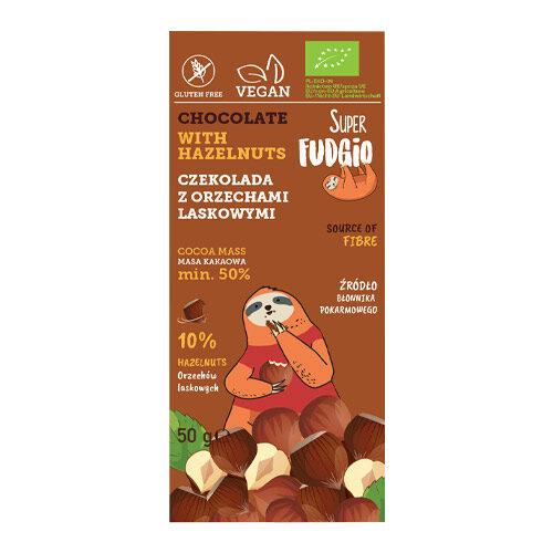 vegansk nøddechokolade køb - vegansk chokolade med hasselnødder