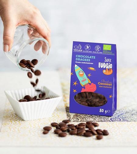 veganske chokoladeknapper - veganske smarties