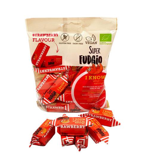 veganske frugtkarameller - super fudgio karameller med jordbær