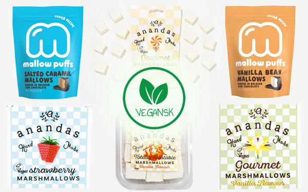 veganske skumfiduser køb online - anandas marshmallows mallow puffs
