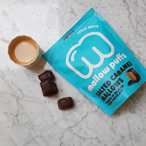 veganske skumfiduser - mallow puffs karamel