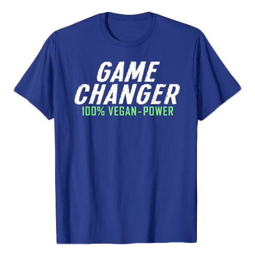 game changer t-shirt med vegansk tryk