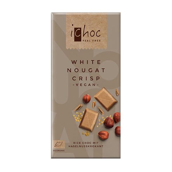 ichoc chokolade køb - ichoc hvid vegansk chokolade ichoc nougat crisp