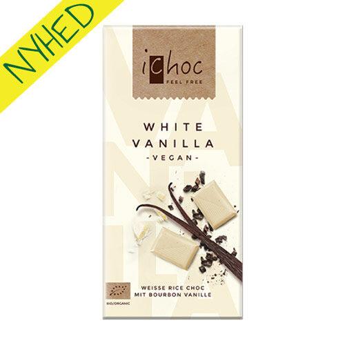 ichoc white vanilla - vegan - hvid vegansk chokolade