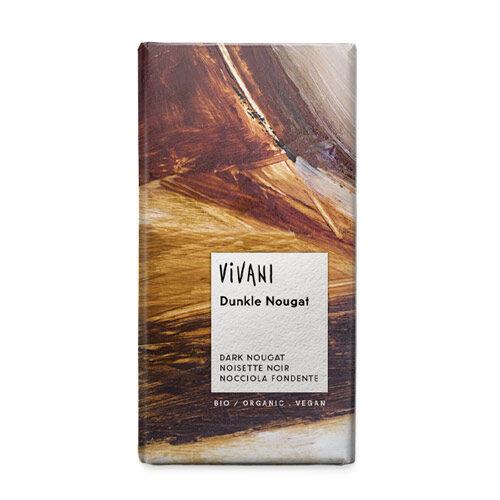 mørk vegansk chokolade med nougat