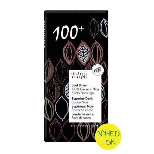 vegansk mørk chokolade køb - vivani mørk 100% chokolade