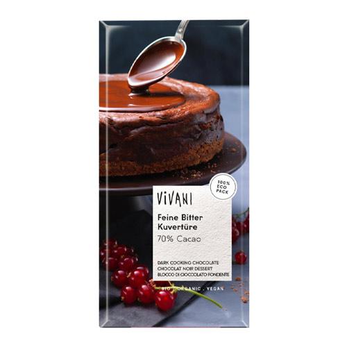 vegansk overtrækschokolade vivani kogechokolade - vegansk madlavningschokolade køb online