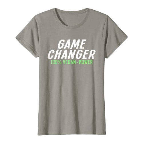 vegansk t-shirt - t-shirt med vegansk tekst - game changer