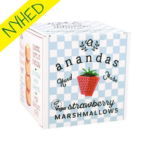 veganske jordbærskumfiduser - anandas marshmallows