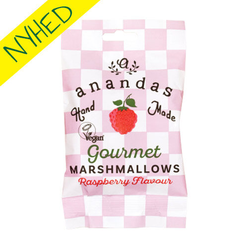 veganske marshmallows køb - anandas skumfiduser med hindbær