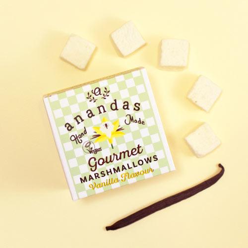 veganske skumfiduser med vanilje - anandas marshmallows danmark