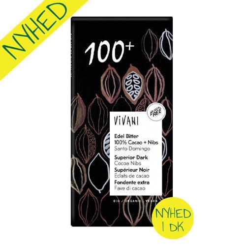 vivani 100% kakao - vegansk mørk chokolade økologisk