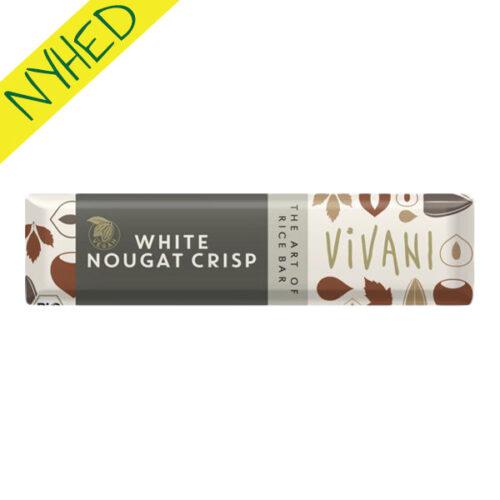 vivani vegansk chokolade - white nougat crisp bar vegan