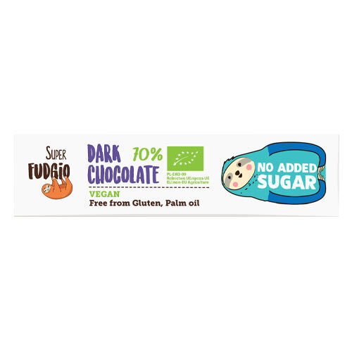 sukkerfri vegansk mørk chokolade super fudgio