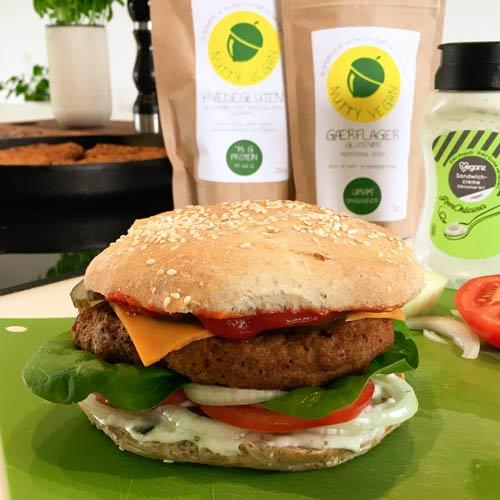 vegansk burger opskrift med hvedegluten