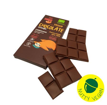 vegansk orangechokolade køb online - super fudgio appelsinchokolade