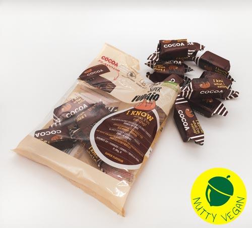 veganske chokoladekarameller køb online - super fudgio kakao karameller