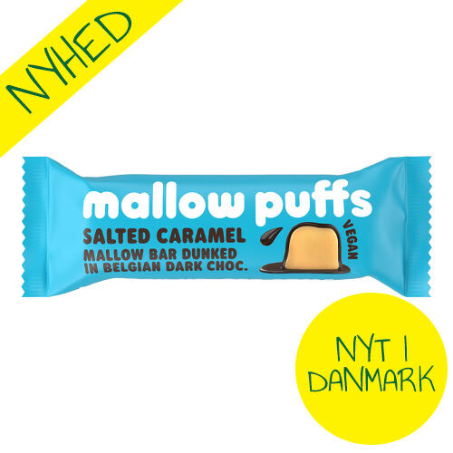 mallow puffs bar med salted caramel