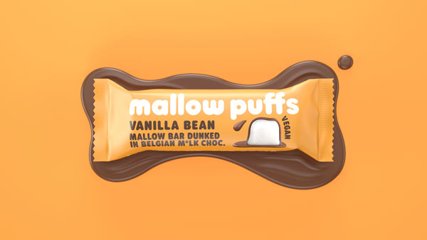 mallow puffs bar - vanilje - vegansk skumfidus i bar