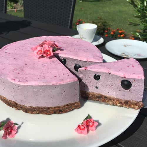 vegansk tærte dessert - opskrift vegansk desserttærte med agar pulver