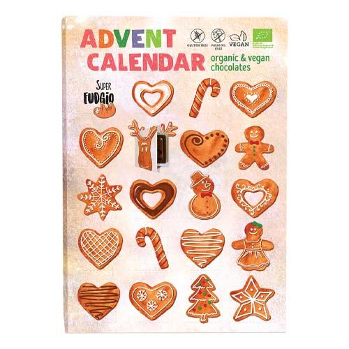 vegansk julekalender køb online - vegansk chokoladejulekalender super fudgio