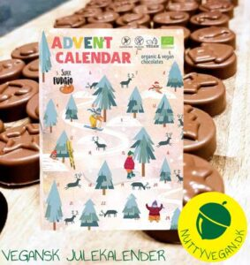 vegansk julekalender køb online - super fudgio julekalender med chokolade