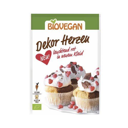 vegansk kagepynt køb - vegansk kagedekoration sukkerhjerter