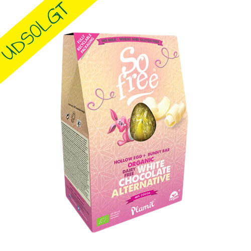 vegansk påskeæg af hvid chokolade - So Free